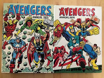 Marvel The Avengers Annual 1975 & 1976 UK Editions