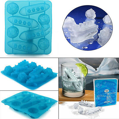 HOT TOP Stylish  Titanic Ice Cube Mold Creative Toy JX