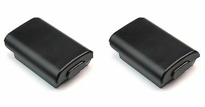 2x Black Battery Holder Pack Cover Shell For Xbox 360 Wireless Controller