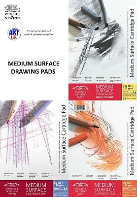 Winsor & Newton MEDIUM SURFACE CARTRIDGE Sketch pad 130/150/220gsm gummed/spiral