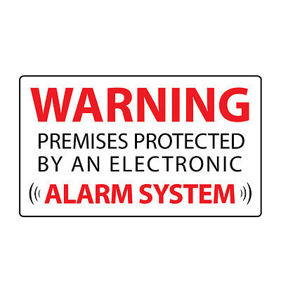 6x Security Stickers - WARNING ALARM SYSTEM  - Home & Business Label Decals