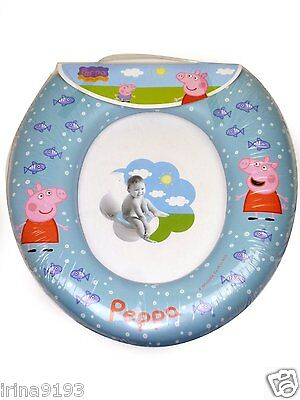 Children's Peppa Pig Soft Padded Toilet Seat Blue Training Seat WC Kids Trend