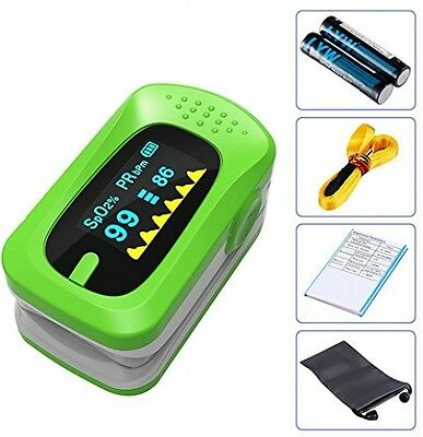 Finger Pulse Oximeter Heart Rate Monitor LED Display Blood Oxygen Saturatio SpO2
