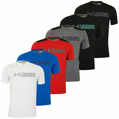 Under Armour Mens UA Raid Graphic T Shirt Fitted Training Top 61% OFF RRP