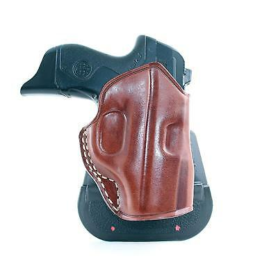 Leather OWB Paddle Holster Open Top Fits Springfield 911 380 ACP 2 7
