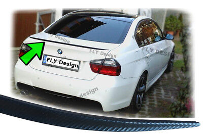 BMW 3 Series E90 F30 tuning spoiler CARBON look rear spoiler SLIM lip tail flaps