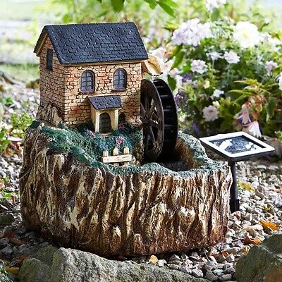 Smart Garden Solar Powered Water Mill Fountain Water Feature 1170001
