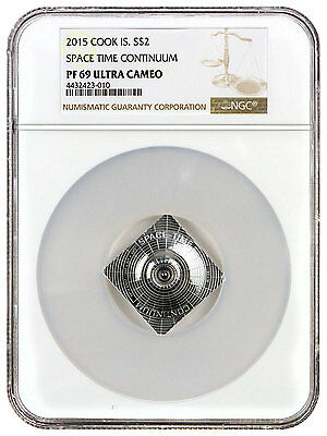 2015 Cook Islands $2 Silver Quilling Art Space -Time Continuum NGC PF69 SKU39678