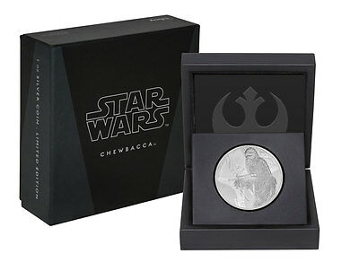 2017 Niue Star Wars Classic Chewbacca 1 oz Silver Proof $2 OGP SKU46943