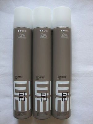 3 x Wella EIMI Dynamic Fix 45 Sec. Modellier Spray 500 ml vm. High Hair