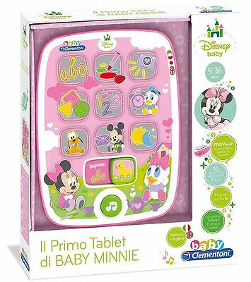 Il Primo Tablet Di Disney Baby Minnie Baby Clementoni 17139