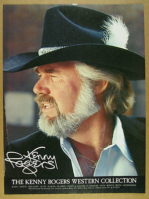 1981 Kenny Rogers Western Collection hats clothing color photo vintage print Ad
