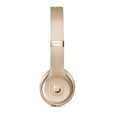 BEATS BY DR DRE Solo 3 Wireless Bluetooth Headphones Gold - %100 Genuine
