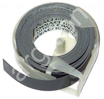 "DYMO embossing Tape 158-09 Glossy Black 1/2"" x 12 Ft NEW Label Labeling"
