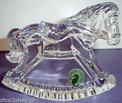 Waterford Rocking Horse Crystal Sculpture Engravable Made in Ireland 135961 New