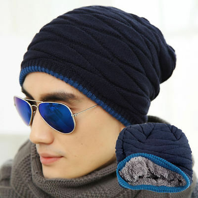 dd20a567abc Knit Beanie Men Women Winter Oversize Baggy Hat Ski Slouch Cap Chic Unisex  Hats
