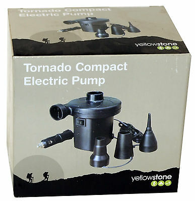 Yellowstone Car Socket Electric Air Pump Airbeds, Inflatables Inflator Etc