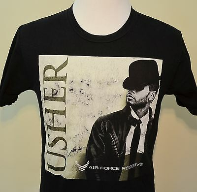 Usher concert t-shirt medium black Washington,DC 2010 hip hop