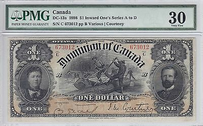 1898 Dominion of Canada $1 Note DC-13a PMG VF 30 673012