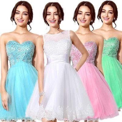 US Stock Short Girls Prom Homecoming Ball Cocktail Gown Party Graduation Dresses