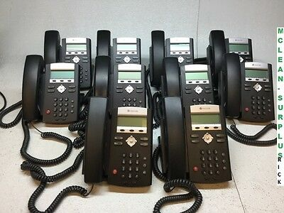 Lot of 10 Polycom 2200-12365-001 SoundPoint IP 331 VoIP Business Phone Tested