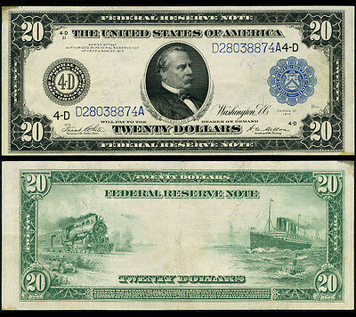 FR. 979 A $20 1914 Federal Reserve Note Cleveland Extra Fine