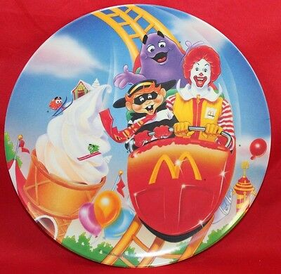 1993 McDonalds Plastic Plate Collectible Carnival Vintage Unused