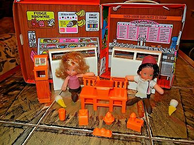 Vintage 1977 Baskin Robbins Ice Cream Store Set, Includes two dolls