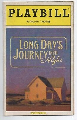 Playbill Long Days Journey Into Night July 2003 Vanessa Redgrave Brian Dennehy