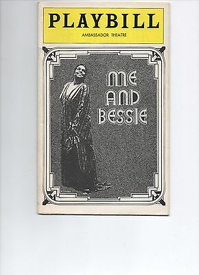 Playbill Me and Bessie 1975 Linda Hopkins Lester Wilson Gerri Dean