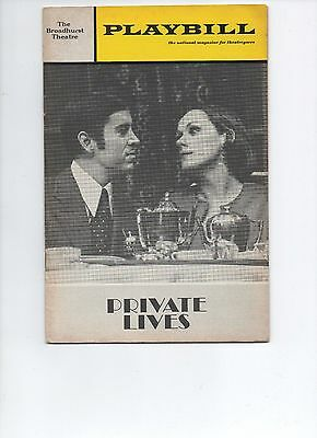 Playbill Private Lives 1970 Tammy Grimes Brian Bedford