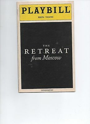 Playbill The Retreat from Moscow Eileen Atkins John Lithgow