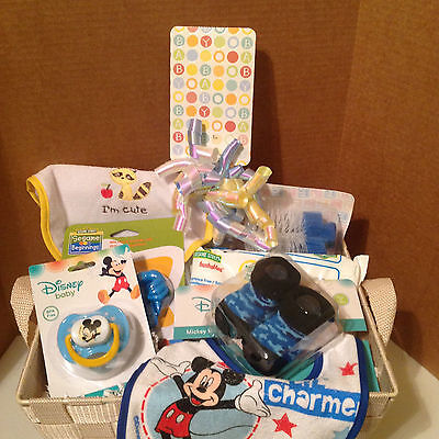 Welcome New Baby! Baby Boy Baby Shower Gift Basket