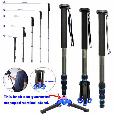 Pro 65 inch Carbon Fiber Monopod With Foldable Tripod Support Stand For Camera