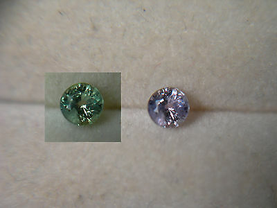 rare ALEXANDRITE Color Change NATURAL Brazil gem Green Purple FLUORESCENT ab18