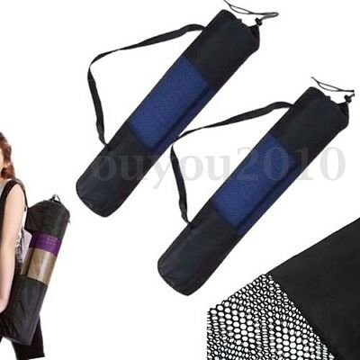 Yoga Mat Bag Fitness Carrier Mesh Strong Nylon Mesh Strap Washable Adjustable