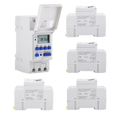 AHC15A DIN Rail Mounting Programmable 16on&16off Timer Switch 12V/24V 110V/220V