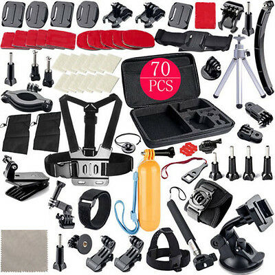 Sport Accessories 70-in-1 Accessory Kit Bundle for Gopro Hero 2/3/4/5 Camera