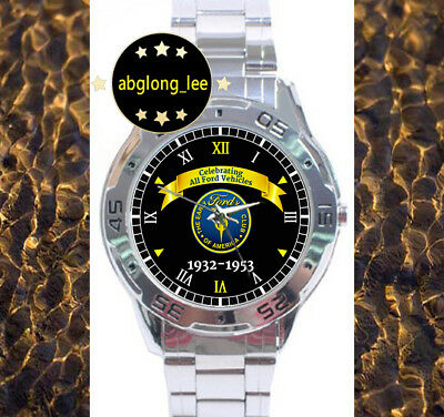 The Early Ford V8 Club Of America CUSTOM CHROME MEN'S WATCH WRIST MENS WATCHES