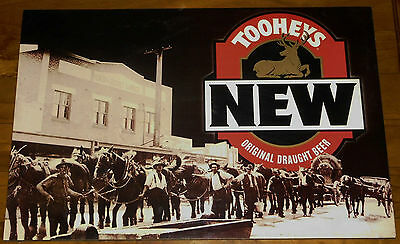 Collectable TOOHEYS NEW ORIGINAL DRAUGHT BEER Mounted Laminated Poster Sign