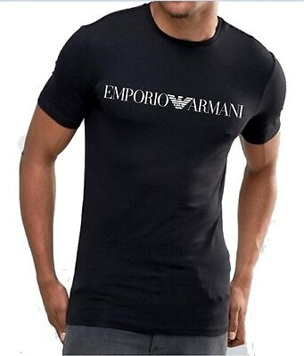 Emporio Armani Mens Black Top T-Shirt Muscle fit,Size M, L, XL