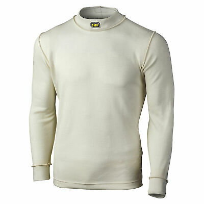 OMP White First Range Long Sleeve Nomex Race/Racing/Rally Top - FIA Approved
