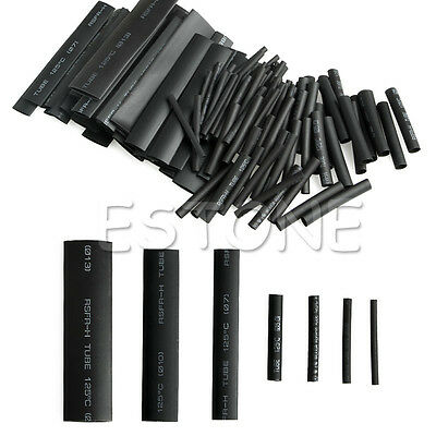 127 PCS 2:1 Polyolefin Heat Shrink Tubing Cable Tube Sleeving Wrap Wire Set