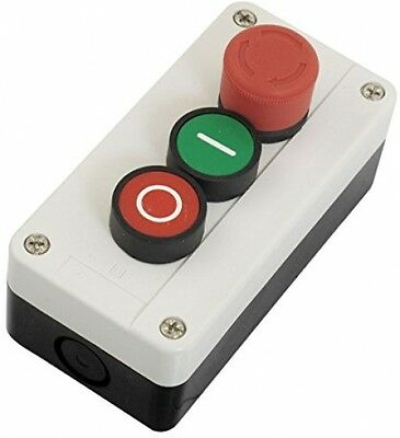 NC Emergency Stop NO Red Green Momentary Push Button Switch Station 600V 10A