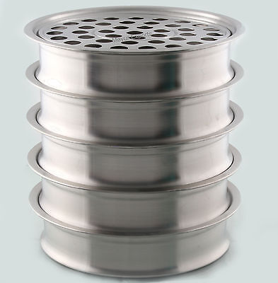 Stainless Steel 5 Communion Trays without Lid- Brand New