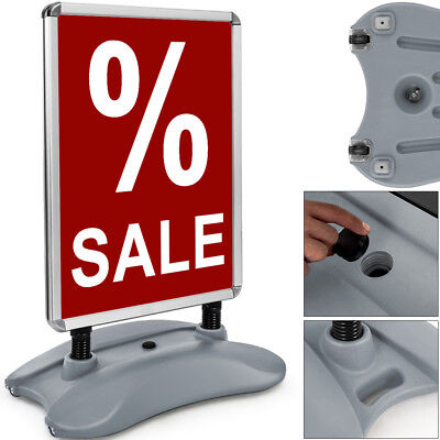 A1 Waterbase Pavement Sign A-Board Poster Snap Frame Shop Double Display Stand