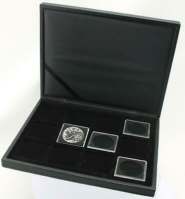 Deluxe Lighthouse Presidio Quadrum case for displaying 12 x 39mm £5 coins
