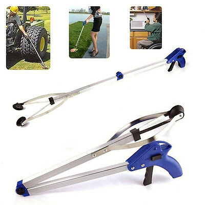 Foldable Pick Up GRABBER Gripper Clamp Slip Claw Helping Hand Tool V Arm Extend♡