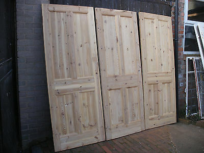 Reclaimed Edwardian stripped pine 4 panel interior doors