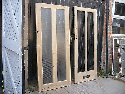 Reclaimed 1930s 2 Panel Pine Front Doors Choice Of 2 11500